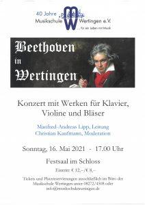 Beethoven in Wertingen @ Festsaal, Schloss Wertingen