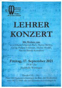 Lehrerkonzert zum Jubiläum @ Stadthalle Wertingen