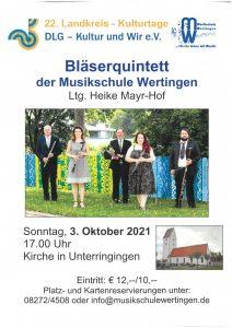 Kultur und Wir: Konzert mit dem Bläserquintett der Musikschule Wertingen @ Kirche Unterringingen