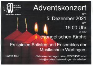 Adventskonzert der Musikschule @ evangelische Kirche